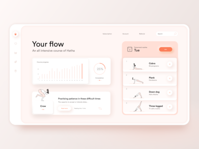 Your Flow: Yoga App yoga icons yoga mat yoga website yoga app web design
