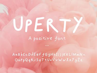 Uperty - A postive handwritten font hand lettering handlettering boho font handwrittenfont creative market handwritten typography
