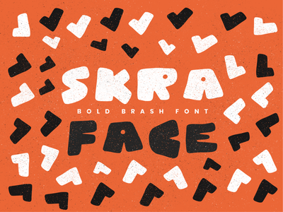 Skra face loud gritty grunge handdrawn caps bold font creative market typography