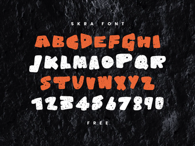 Skra free font typography fonts freebies font free free psd