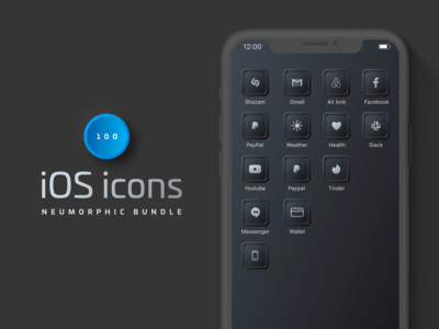 Custom iOS14 Neumorphic Icons mobile icons widgets ios app ios 14 widgets ios home ios app icons ios homescreen ios14