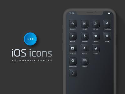 Custom iOS14 Neumorphic Icons mobile icons widgets ios app ios 14 widgets ios home ios app icons ios homescreen ios14