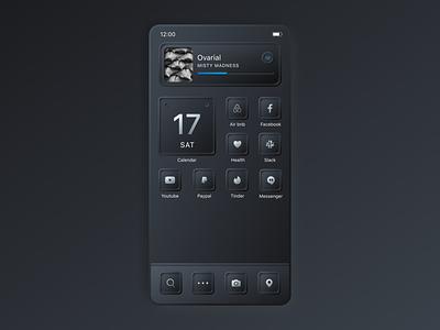 Neumorphic iOS 14 Homescreen homescreen icons homescreen ios14 app icons neumorphism neumorphic mobile