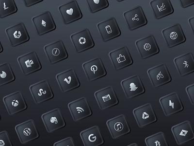 Neumorphic iOS14 icons mobile