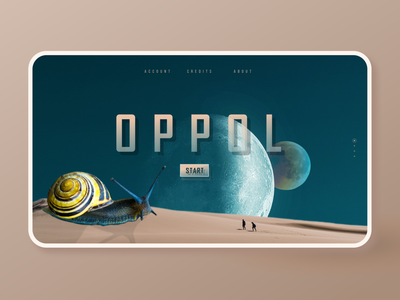 OPPOL - Space adventure web design