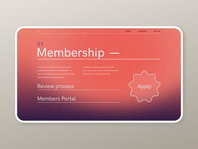 Membership Portal web design