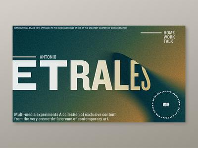 Etrales Color Gradient Backgrounds web design