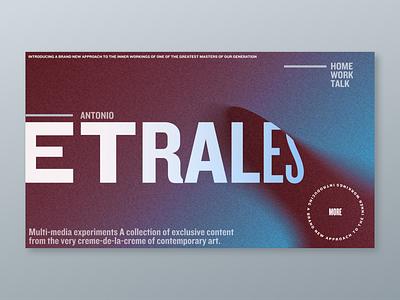 Antonio Etrales web design
