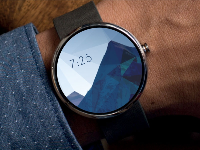 Watch Face clock time mountain watchface triangle low poly watch androidwear