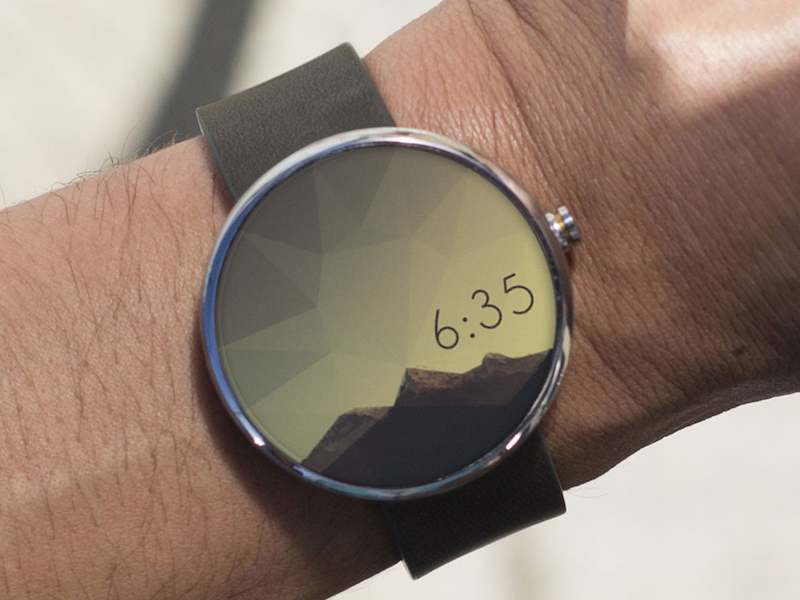 Poly Watch Face round ui moto triangle low poly time face watch