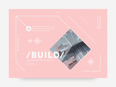 /BUILD/ angular geometric splash card fuchsia pink