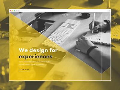 Agency site digital agency black yellow duotone ux ixd ui web