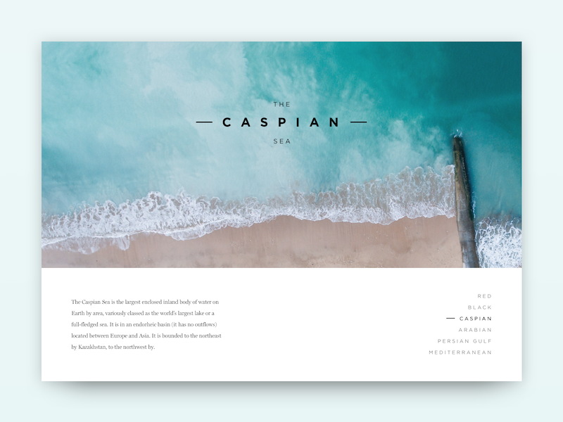 The Caspian Sea white space beach splash desktop hue teal minimal card ocean water sea