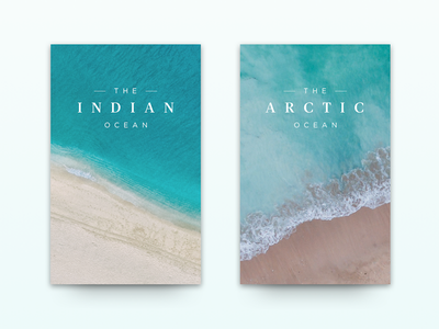 Ocean Cards turquoise teal minimal ocean sea serif blue water card cards
