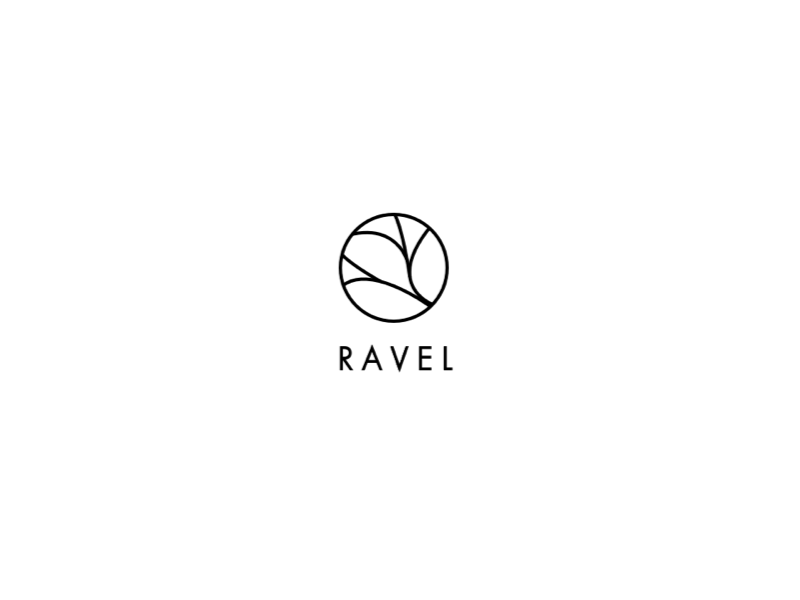 Ravel Logo Version Two branch ravel brand symbol icon mark vine logo