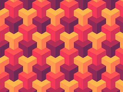 Thrice Cubed Pattern isometric escher geometric spoonflower pattern