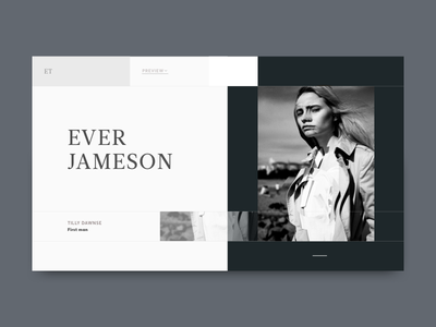 Ever Jameson experimental broken grid magazine editorial layout