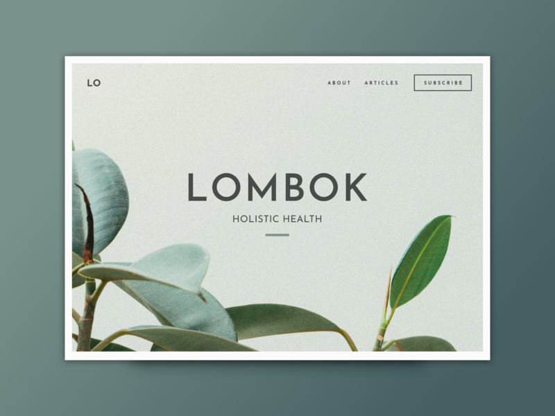 Lombok Website Design creative market website concept blogging theme blog theme blog template travel blog delightful artifacts website splash