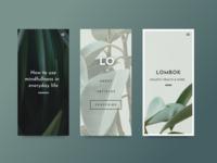 Lombok Website Mobile