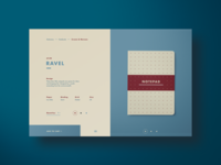 Ravel Notepads Product Page