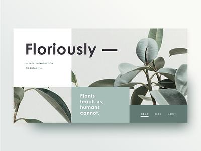 A Short Guide To Botany turquoise teal botany broken grid mondrian rubber tree plant website splash