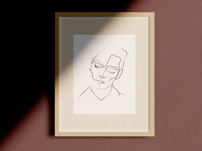 Figara Line Drawings single one line drawings illustration portrait sketch line drawing continuous