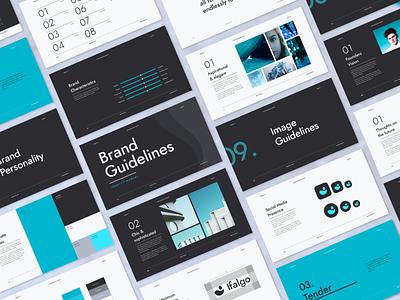Minimal brand identity guidelines branding template branding and identity brand manual brand guideline brand guidelines brand guide brand identity