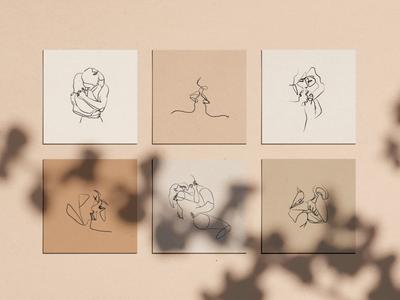 Duo - Line drawings