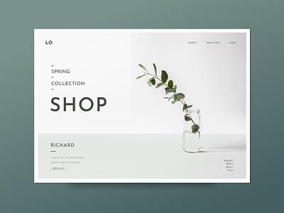 Lombok UI Kit creative market shop botanical ecommerce ui web design ui kit