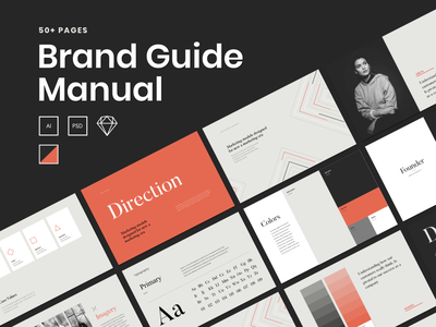 A Brand Manual Template brand guide template brand manual brand book branding