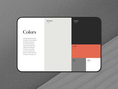 Color palette creative market mockup