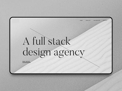 Full stack design agency sand web designer agency branding design studio web design website agency web design agency ui webdesign