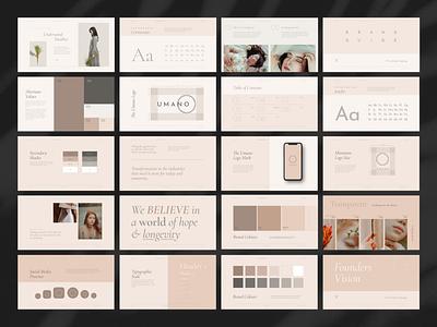 Branding Book branding web design style tile brand manual style guide presentation
