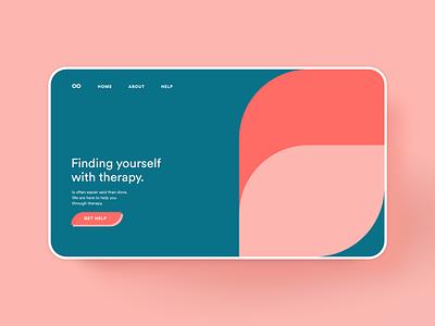 Finding yourself webdesign website builder fuschia mauve website web design therapy