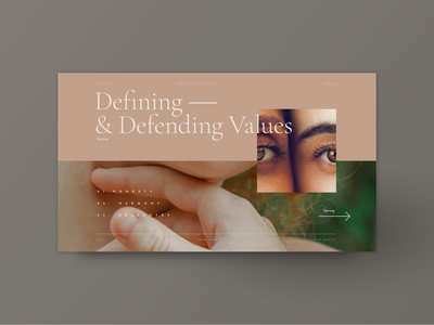 Defining Values style guide brand manual brand guideline web design brand guidelines