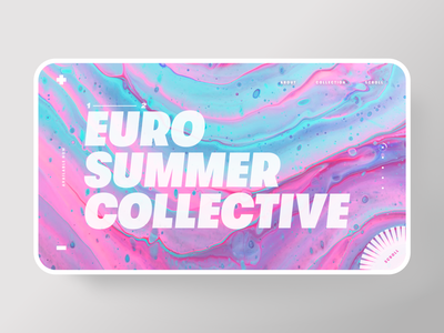Euro Summer Collective fashion neon web design