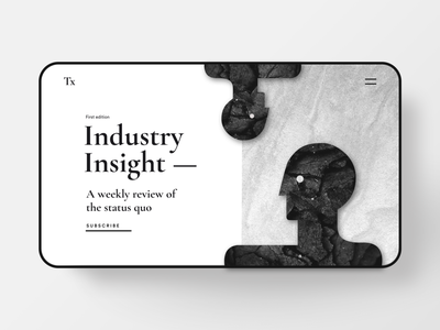 Industry update illustration art website web design