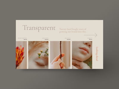 Transparent web design branding