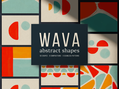 Wava - Abstract Shapes Collection design branding shapes watercolor abstract