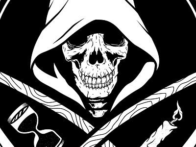 La Parca - Twin Serpents death scythe grimreaper skull parca