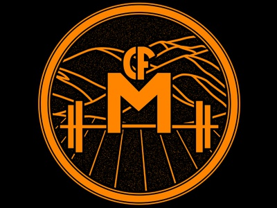 Crossfit Milpitas Logo + Shirt Design crossfit milpitas hills fieldcrop orange