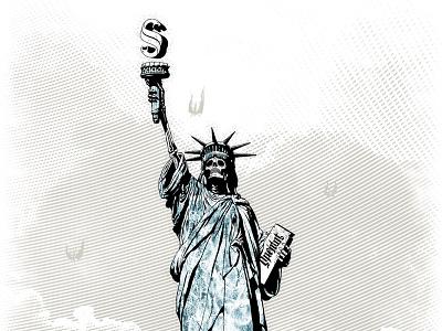 Libertas liberty newyork fallen angels tshirt engraved ambigram