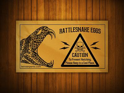 Rattlesnake Eggs Envelope rattlesnake engraved envelope woodcut prank mockup