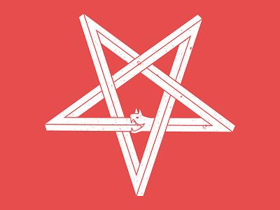 Penrose Pentagramaroboros star penrose pentagram snake horned viper evil