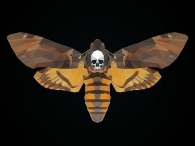 Cabeza de Muerto photoshop lowpoly moth