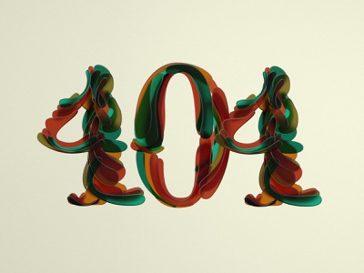Error_404 c4d shapes typeface colors 3dillustration 3dtypo 3d artist type 3d 3dtype
