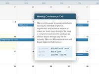 Calendar Date Popup
