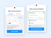 GiveForms Donate Form monthly giving credit cards credit card tabs button bank transfer form recurring paypal credit card form payment creditcard donation donate ux ui