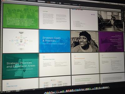 BOOM!Health Strategic Plan branding illustration brochure health colorful gotham diagram icons non-profit