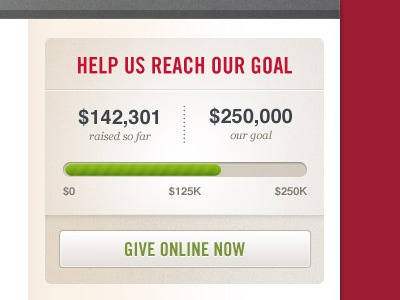 Donation Widget donation goal widget web ui